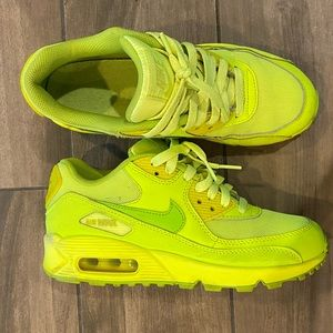 Nike air max 90's lime green size 5Y